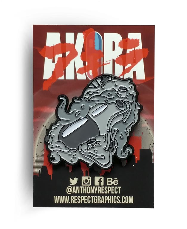 Akira Capsule Gang Manga Limited Edition 80s Anime Soft Enamel Pin by Respect